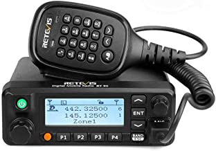 Retevis RT90 Mobile Radios Dual Band Digital Ham High Power VHF UHF Record 250 Zones 3000 CH 10000 Contacts DMR Amateur Mo...