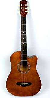 38 inch MIKE MUSIC Acoustic Guitar with Bag and Strap (brown)