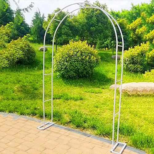 Outech Garden Arch, Black/white Heavy Duty Rose Arches Arbor Flower Stand, Thickened Pipe Diameter: 19mm, Easy To Install, with Base, Used For Various Climbing Plants, Wedding Lawn