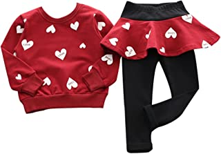 Adorable Cute Toddler Baby Girls Clothes Set,Long Sleeve T-Shirt +Pants Outfit