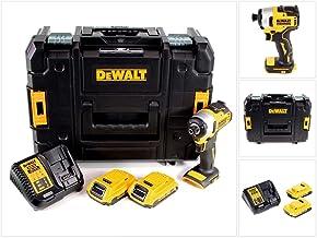 Dewalt DCF809D2T-QW Atornillador de impacto inalámbrico 18 V, 2 Ah, Negro y amarillo