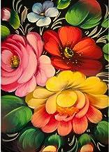 Diamond Pintura Taladro 5D Ronda completa imitación de diamante bordado Fotos de bricolaje del hogar del arte Pintura Decoración Three Flowers 11.8x15.7in 1 Pack By Injoyser