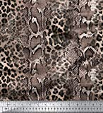Soimoi Rosa schwere Leinwand Stoff Leopard & Schlange