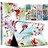 DuraSafe Cases For iPad 4 / 3 / 2 - 9.7' A1458 A1459 A1460 A1403 A1416 A1430 A1395 A1396 A1397 Printed Folio Smart Cover with Protective Sleek & Classic Design - Birds & Flowers