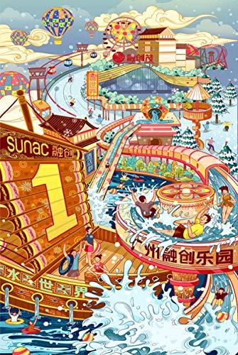 Mural Puzzle 5000 Piezas De Juego De Rompecabezas Happy Water World Adultos Y Jóvenes Educación Familiar Descompresión Intelectual