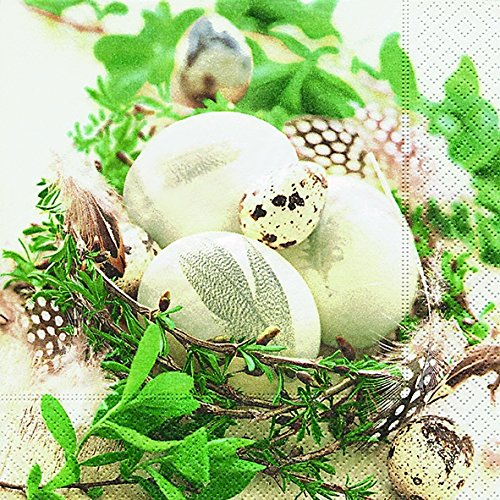 Paper+Design Cocktail Osterserviette - Design Osternest aus