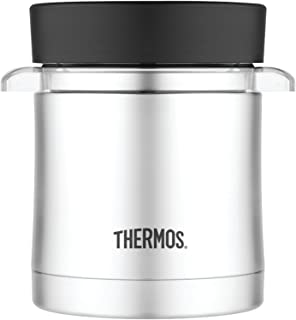Thermos 12 Ounce Food Jar with Microwavable Container, Stainless Steel
