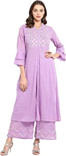 Bhama Couture Women's Straight Salwar Suit Set(Pack of 2)(BHKS048_Purple)