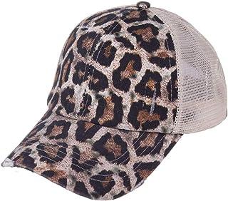 Unisex Baseball Cap, Ponytail Baseball Hats for Women Adjustable Trucker Baseball Cap, Mesh Sun Hat