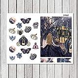 BLOUR 7 Hojas/Set Magic Castle Etiqueta semanal Etiqueta Decorativa DIY Planificador Diario Scrapbooking Álbum Pegatinas