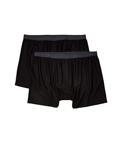 ExOfficio Give-N-Go(r) 2.0 Boxer 2-Pack (Black) Men