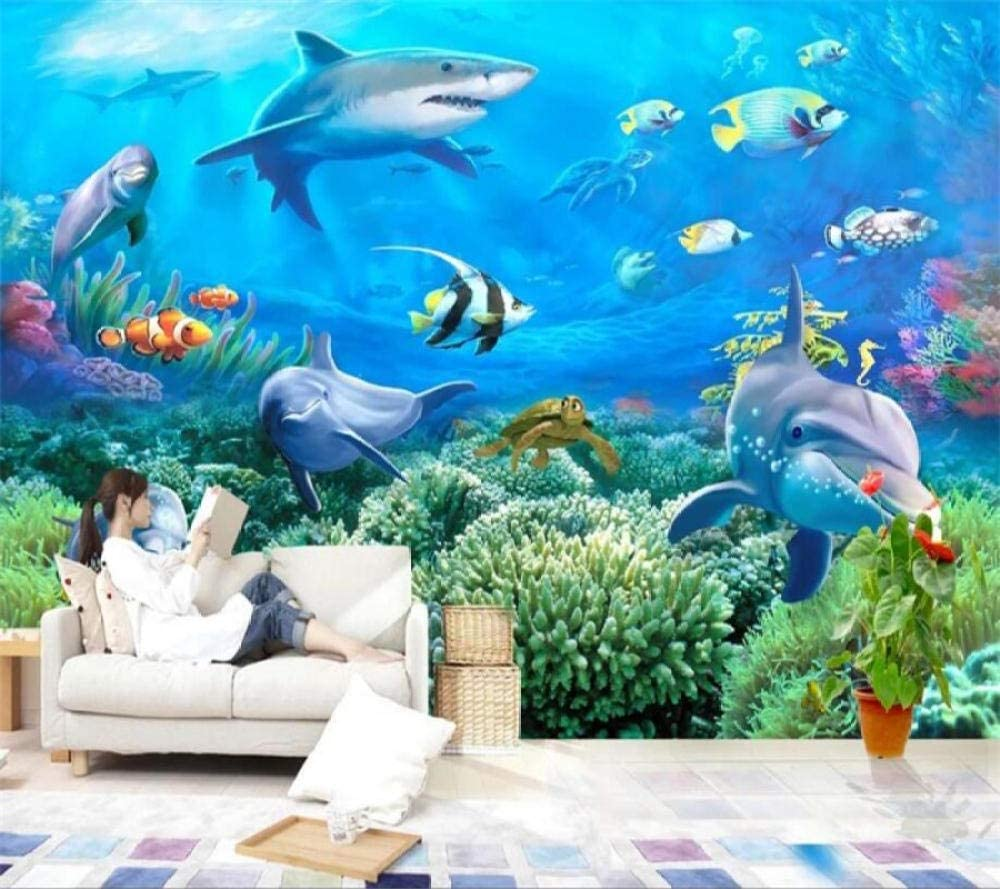 Our shop Genuine Free Shipping OFFers the best service Custom Mural 3D Stereo Photo Dolphin Wallpaper Story Undersea TV