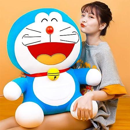 Tritow Peluche Doraemon bambola Jingle Blue Cat Fat bambola Peluche bambino scherza il compagno Big Ragdoll del regalo di compleanno creativo del lato del letto un cuscino for dormire Ragazze paio don