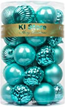 KI Store 34ct Christmas Baubles Ball Ornament Shatterproof Christmas Tree Decorations for Xmas Party Wedding Decor Ornamen...