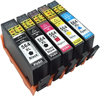 Komada HP564XL (5 colors) and Large Capacity Ink Cartridges with New Updated Chips Compatible with HP Photosmart B8550 552...