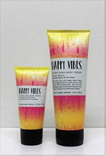 One for home & One for Travel – Happy Vibes - Ultra Shea Body Cream Set Bath and Body Works