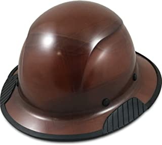 DAX Fiberglass Composite Hard Hat with Hard Hat Tote- Full Brim, Natural Tan with Protective Edging