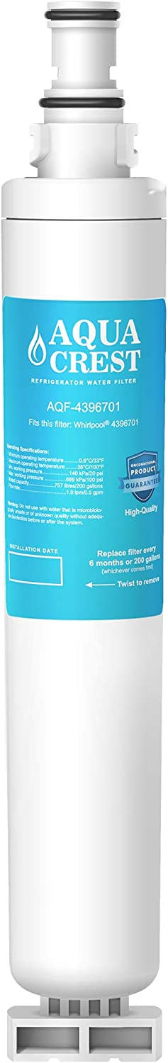 Mail order AQUA CREST 4396701 Refrigerator Water mart Compatible Filter Wh with