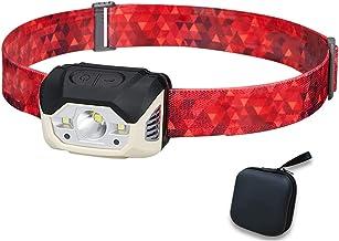Oplaadbare koplamp, 440 lumen LED-koplamp zaklamp met bewegingssensorschakelaar, zeer geschikt voor hardlopen, wandelen, l...