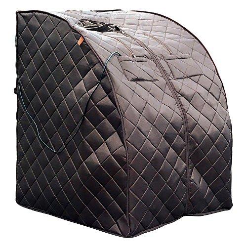 HEATWAVE BSA6315 Harmony Deluxe Oversized Portable Sauna, Cabin Size: 33.5-in L x 33-in W x 41.5-in...