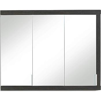 Armadietto da bagno con specchio XP50310 larghezza x altezza x profondit/à Grigio//Bianco in frassino 60 x 70 x 20 cm Trendteam