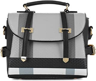 Small Plaid Lightweight Crossbody Bag Fashion Backpack Top Handle Purse