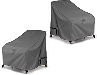 iKover Patio Chair Covers, Lounge Deep Seat Cover, Heavy Duty and Waterproof Outdoor Lawn Patio Furniture Covers 2 Pack,Pr...