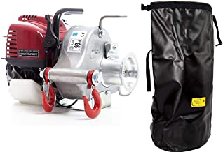 Portable Winch PCW3000 Gas-Powered Capstan Pulling Winch with PCA-0105 XXL Transport Bag (Bundle, 2 Items)