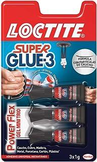Loctite Super Glue-3 Power Flex Mini Trio, gel adhesivo