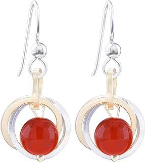 Free Shipping 925 Sterling Silver Earrings Carnelian Gemstone American Seller RE1006 Natural Carnelian Earrings