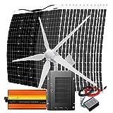 2920W Wind Turbine Generator Solar Panel Complete Kit with 3000W Power Inverter Peak 6000W : 1000W Windmill 48V + 16x 120W...