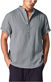 Saihui_Men Tops - Camiseta - Manga Corta - para Hombre