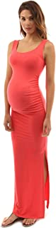 PattyBoutik Mama Tie-Dye/Solid Scoop Neck Sleeveless Maxi Dress