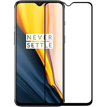 Ycnex Screen Guard for OnePlus 7T Tempered Glass Screen Protector Precisely-Engineered 9D Full Glue Tempered Glass Edge-to-Edge Gorilla Screen Protector for OnePlus 7T /1+7T (Black)