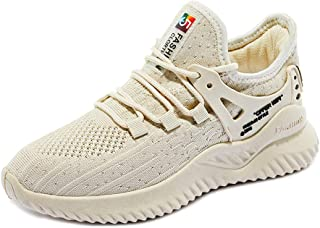 AUCDK Women Breathable Trainers Classic Style Lace Up Mesh Sneakers Female Sports Shoes for Casual Exercise