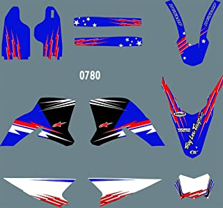 DST0780 3M Customized Motorcross Stickers Motorcycle Decals Graphics Kit for Yamaha WR250R 2008-2015