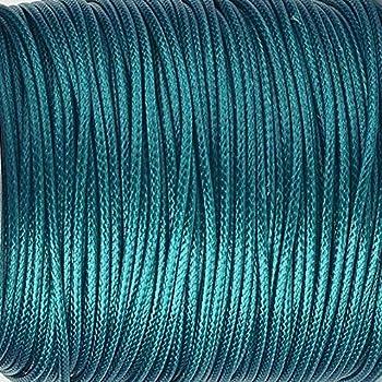 Fil en polyester de 1 mm Turquoise Cordon 3 m couleur