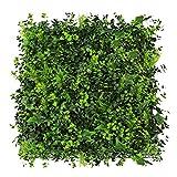 WAA 50X50CM Simulazione Pianta da Parete Balcone in Plastica Pianta Verde da Parete Decorazione da Prato Ornamenti da Parete con Fiori Tappeto Erboso per Interni Ed Esterni