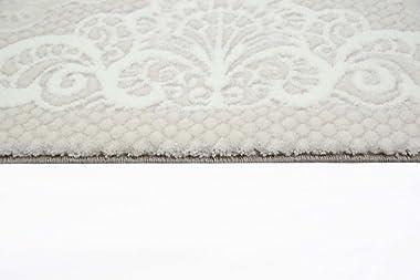 Designer Tapis Contemporain Salon Laine de Tapis Tapis avec des Ornements de la frontière dans la crème Pourpre Beige Brown G