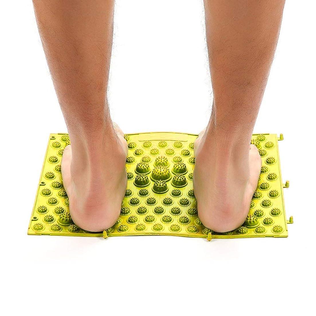 貫入ポテトひねりAcupressure Foot Mats Running Man Game Same Type Foot Reflexology Walking Massage Mat for Pain Relief Stress Relief 37x27.5cm