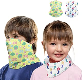 Kids Neck Gaiter Face Mask Scarf Bandanas for Hot Summer Cycling Hiking Sport Outdoor 2 pcs