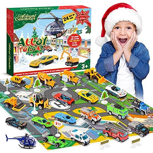 Diyfrety Juguetes Niños 2 3 4 5 6 años, Calendario de Adviento 2021 Coches de Juguetes Ideas...