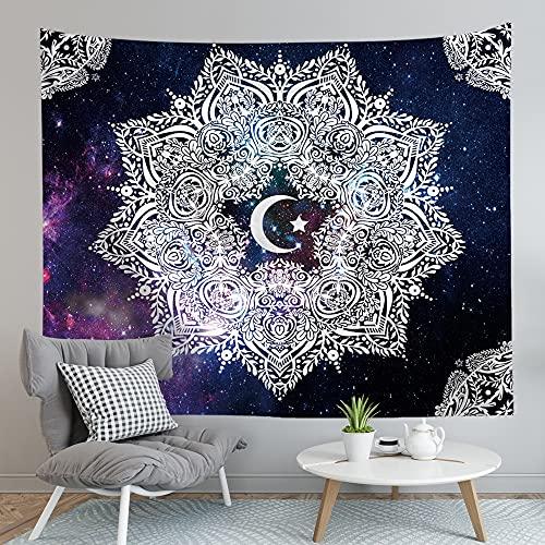 KHKJ Tapiz de Mandala Indio para Colgar en la Pared, Cielo Estrellado, tapices Grandes, Sol, Luna y Estrella, decoración de Pared, Accesorios de decoración del hogar, A2 230x180cm