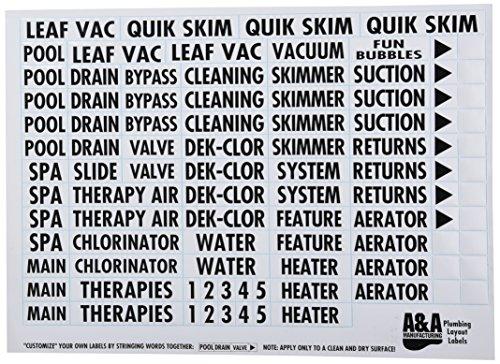 A&A Manufacturing 523186 Klempner-Etikett