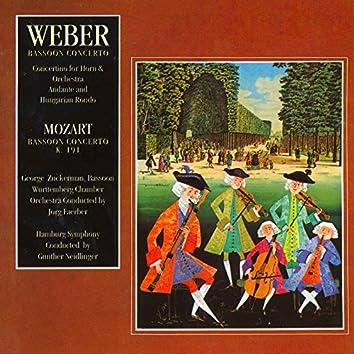 Weber: Concertino in E Minor for Horn & Orchestra - Mozart: Bassoon Concerto