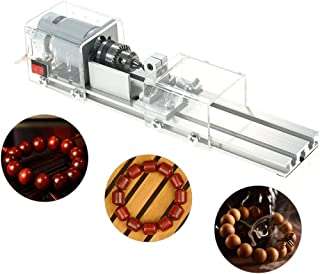 Miniature Lathe for Buddha Beads, 100W Benchtop Lathes Transparent Woodworking DIY Lathe for Manual DIY Carving