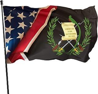 Bandera de Guatemala de Jihuilai de 3 x 5 – colores brillantes y resistente a la decoloración UV césped y jardín bandera 3...