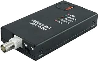 10BaseT RJ45 UTP to 10Base2 Thinnet Coax BNC Media Converter | Ethernet Adapter 10Base-T/2