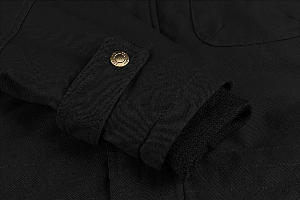 CHEXPEL Men's Thick Winter Jackets with Hood Fleece Lining Cotton Military Jackets Work Jackets with Cargo Pockets