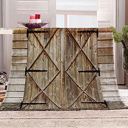 Ejiawj Mantas para Sofa Baratas Pequeña Puerta de Madera destartalada 200x220 cm...